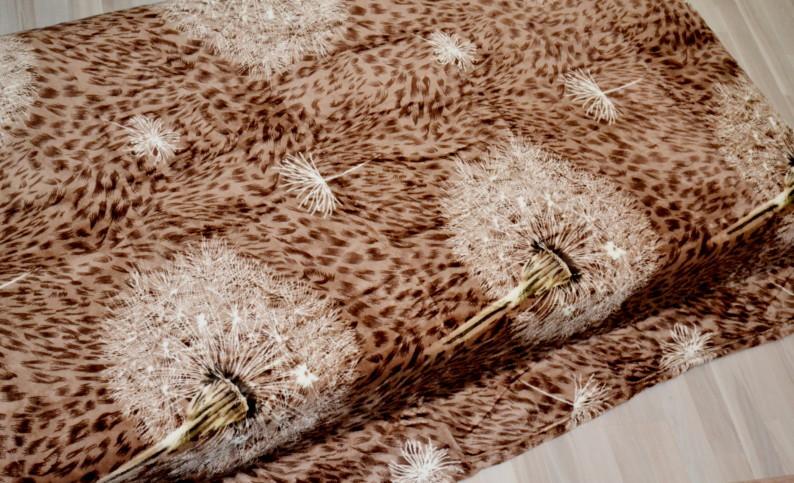 Микрофибра ELWAY евро  Одуванчик коричневый