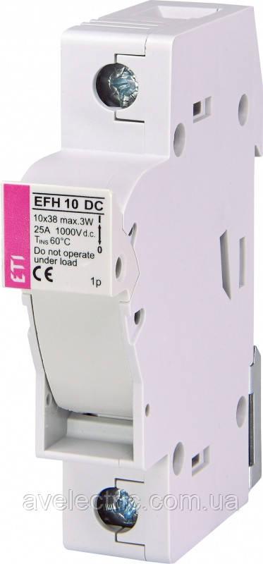 Держатель EFH 10 1P 25A 1000V DC (с адаптером), ETI, 2540501