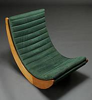 """Кресло качалка """"Elit"""" классик, замша зеленая"""