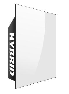 Электрическая отопительная энергосберегающая керамическая панель Hybrid (белая)