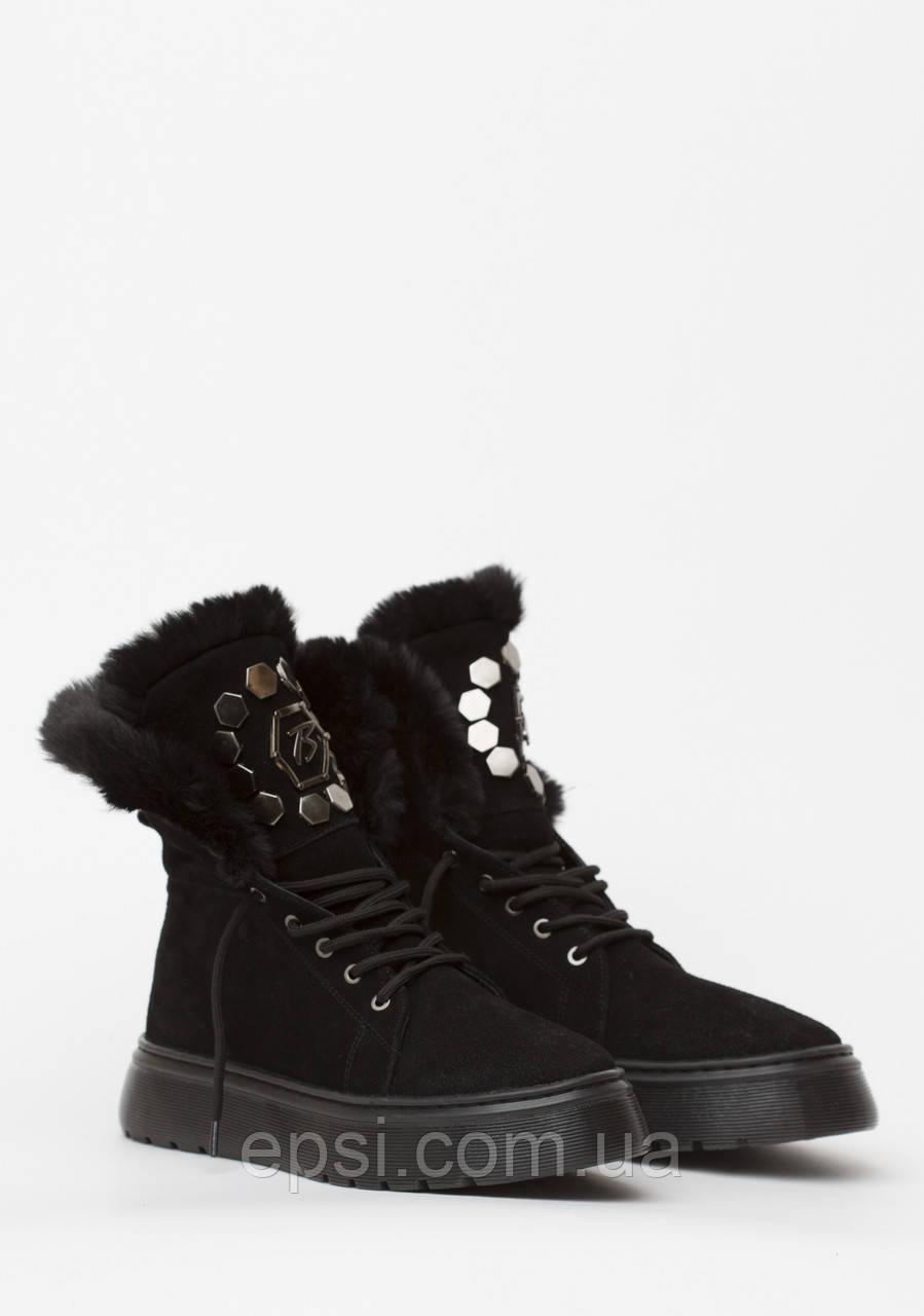 Ботинки женские замшевые Wright  UTENA 40 черные
