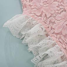 Боди из мягкого кружева розовый - 328-14, фото 3