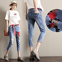 Женские джинсы с вышивкой СС-7763-00
