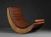 """Кресло качалка """"Elit"""" кофе с молоком, экокожа коричневый"""