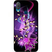 Силіконовий чохол з картинкою для Vivo Y11 Фіолетові квіти