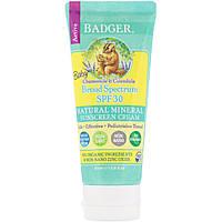 Badger Company, Детский солнцезащитный крем, SPF 30 PA+++, с ромашкой и календулой, 87 мл (2,9 жидкой унции)