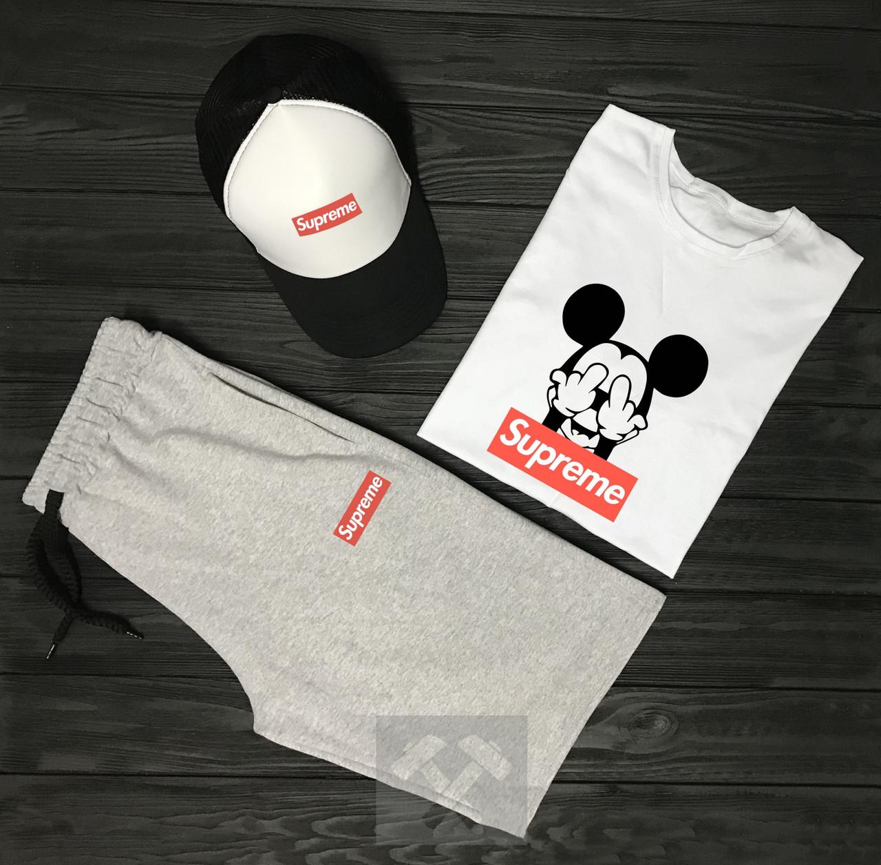 Комплект Supreme (шорты+футболка+кепка)