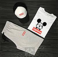 Комплект Supreme (шорты+футболка+кепка), фото 1