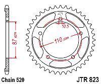 Звезда задняя Sunstar SS 1-3383-39 ( JTR823.39 ), фото 1