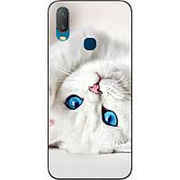 Силіконовий чохол для Vivo Y11 з картинкою Білий кіт