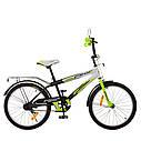 Велосипед детский PROF1 20д. SY2054 Inspirer, черно-бело-салатовый, фото 2