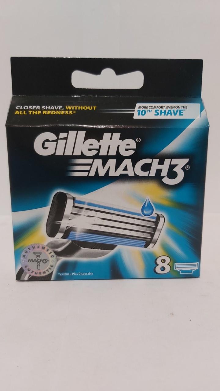 Кассеты для бритья Gillette Mach 3, 8шт. оригинал