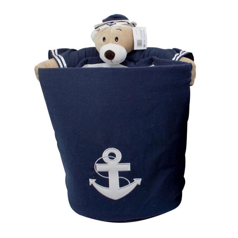 """Trento Корзина для хранения игрушек """"Медведь-моряк"""" d.32см h.40см"""