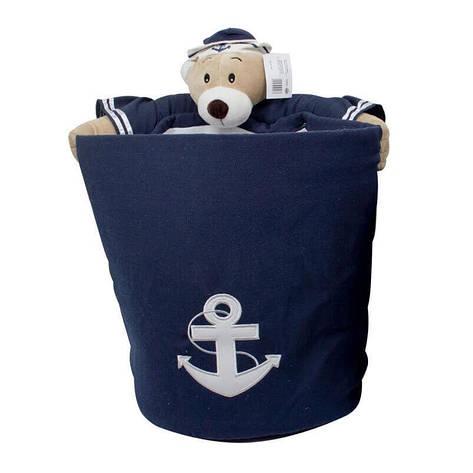 """Trento Корзина для хранения игрушек """"Медведь-моряк"""" d.32см h.40см, фото 2"""