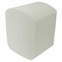 Туалетний папір листовий одношаровий 250 аркушів з целюлози з тисненням V-складка Comfort