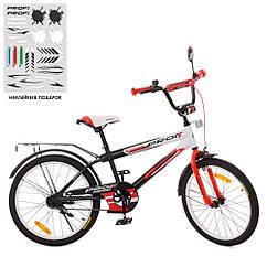 Велосипед дитячий PROF1 20 SY2055 Inspirer,чорно-біло-червоний