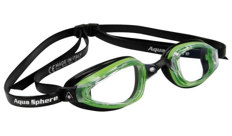 Очки для плавания Michael Phelps K180 (Зелено-чёрный, линзы прозрачные)