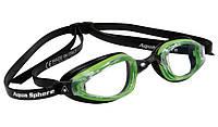 Очки для плавания Michael Phelps K180 (Зелено-чёрный, линзы прозрачные), фото 1