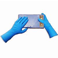 Хозяйственные перчатки плотные, удлиненные Ambulance PF ultra, XL, 2 шт, 1 пара, рукавицы, синие, защита рук, защита кожи