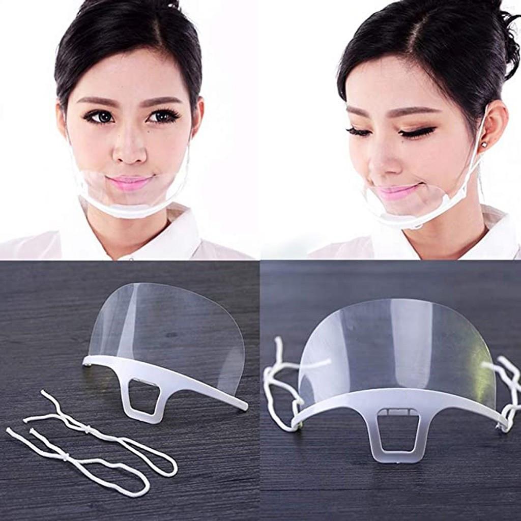 Прозрачный защитный козырёк, маска, экран для носа, для рта 10 шт