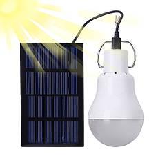 Лампа портативная с солнечной батареей. Лампочка туристическая с солнечной зарядкой