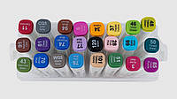 Скетч-маркеры двусторонние Aihaо 24 шт для рисования sketchmarker код: PM508-24