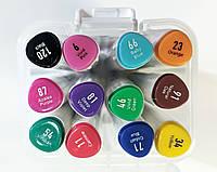 Набор скетч-маркеров 12 шт. для рисования двусторонних Aihao sketchmarker код: PM514-12