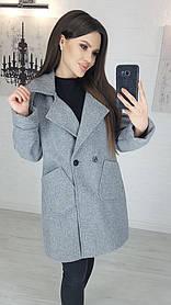 Пальто Женское Кашемировое Серый