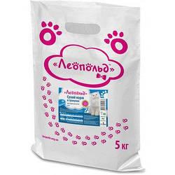 Сухий корм Леопольд  в гранулах для дорослих котів мікс 5кг