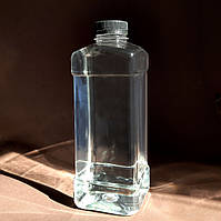 Бутылка ПЭТ Квадратная 1 л. с крышкой 38 мм, фото 1