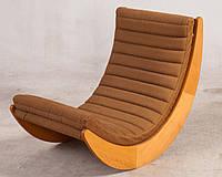 """Кресло качалка """"Elit"""" классик, велюр коричневый"""