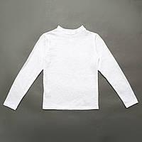 Блузка-водолазка р.128,134,140,146 для девочки SmileTime ажурная Azhur, белый