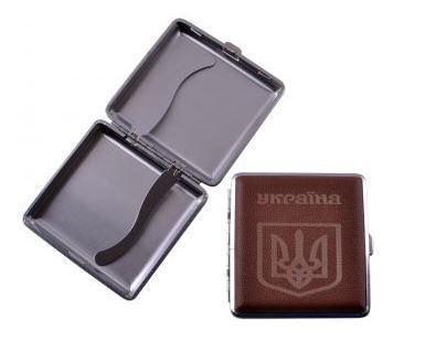 Портсигар на 20 сигарет Герб Украины HL-156-3
