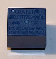 Реле электромеханическое  JQC-3F(T73)-1C-12;  12VDC