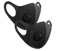 10 штук / Защитная Маска Питта с клапаном Черная Pitta респиратор с фильтром черная
