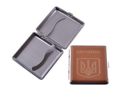 Портсигар на 20 сигарет Герб Украины HL-156-2