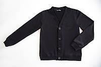 Пуловер на пуговицах для мальчика р.122,128,134,140,146,152,158,164 SmileTime, черный, фото 1