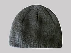 Шапка мужская осень-зима черного цвета с отворотом спортивного типа