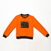 Свитшот детский р.98,104,110,116,122 SmileTime Michigan, оранжевый, фото 1