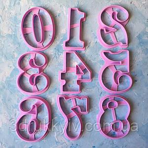 """Вирубки для пряників """"Цифри, набір цифр #4 10 см"""" / Вырубки - формочки для пряников """"Цифры, набор цифр #4"""""""