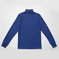 Водолазка синяя для подростка р.152,158,164 SmileTime классическая Classic, синяя