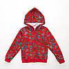 Детская кофта на молнии р.98,104,110,116,122 для девочки SmileTime Cool Letters, красный