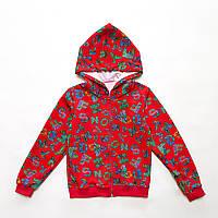 Детская кофта на молнии р.98,104,110,116,122 для девочки SmileTime Cool Letters, красный, фото 1