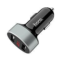 Автомобильное Usb зарядное устройство Hoco Z26 2.1A с дисплеем