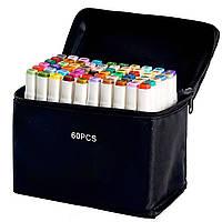 Видеообзор! 60 цветов! Набор маркеров Touch для рисования и скетчинга на спиртовой основе 60 штук