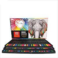 Большой набор цветных карандашей 120 штук премиум класса