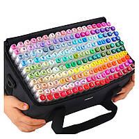 Набор двусторонних маркеров Touch Smooth для рисования и скетчинга на спиртовой основе 168 штук