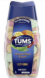 TUMS Antacid Chewable for Tablets Heartburn Relief, Extra Strength, Assorted Fruit, 48 Tablets таблетки від изж