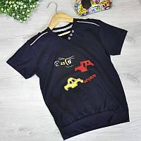 """Дитяча літня футболка """"Трактор"""" , з трикотажу , для хлопчика 2-3;3-4;5-6;7-8;8-9 років"""