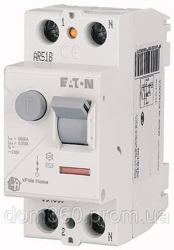 Дифференциальное реле (УЗО) EATON xPole Home HNC-25/2/003 тип АС